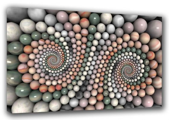 Spiral Stones Abstract Art Canvas. Sizes: A3/A2/A1 (003265)
